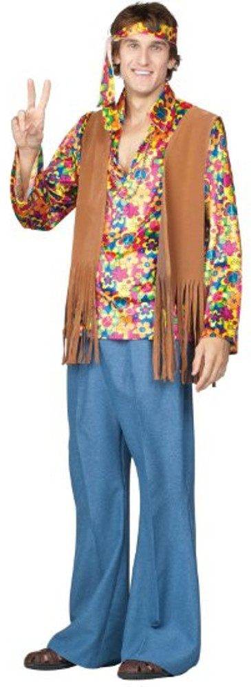 Mens Far-Out Frank 60's Hippie Costume