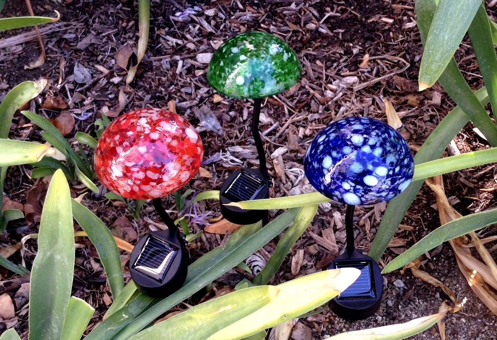 Mini Mushroom Solar Light Set
