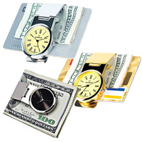 Money Clips with Watches