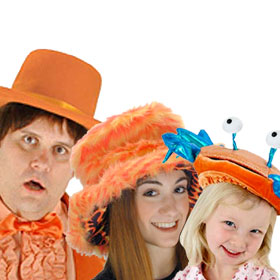 Orange Costume Hats