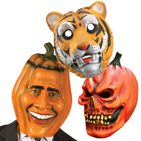 Orange Costume Masks