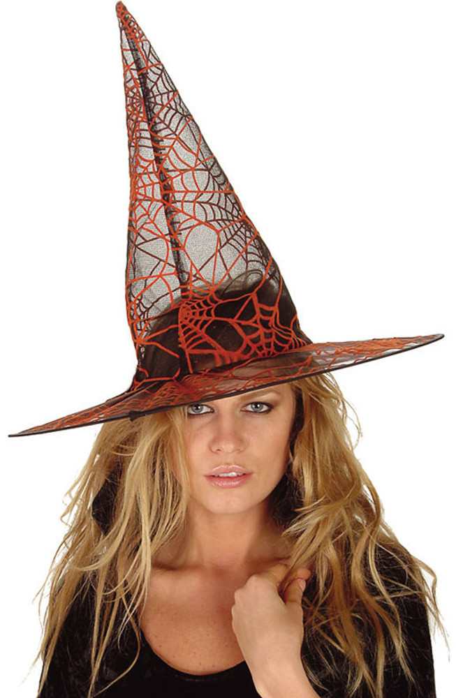 "Orange Glitter Witch Hat 18""X15"""