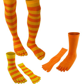 Orange Toe Socks