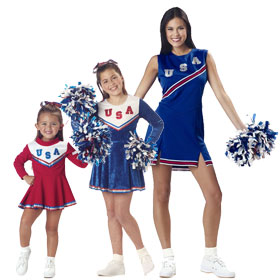 Patriotic Cheerleader Costumes