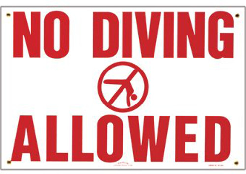 Pool No Diving Sign