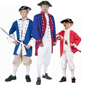 Revolutionary War Soldier Costumes