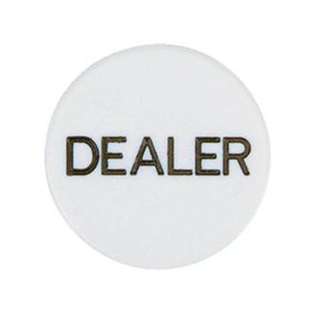 Round White Dealer ID Button