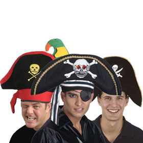 Skull and Bones Pirate Hats
