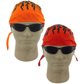 Skull Caps with Flames