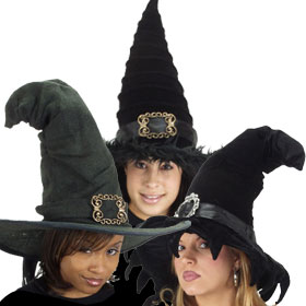 Solid Black Witch Hats
