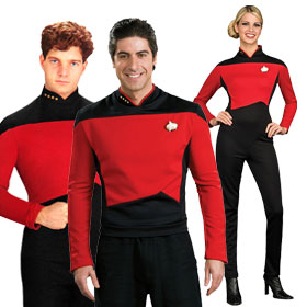 Star Trek: TNG Red Command Uniforms