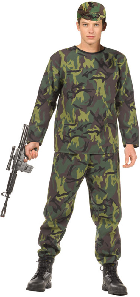 Teen Jungle Fighter Boys Costume