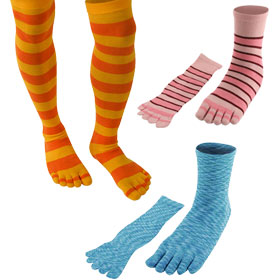 Toe Socks by Color