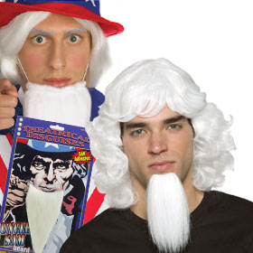 Uncle Sam Beards & Wigs
