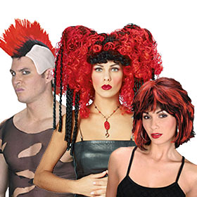 Unique Red Costume Wigs