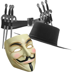 V for Vendetta Costume Accessories