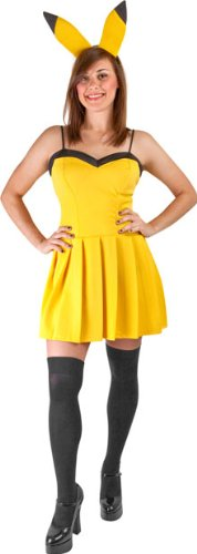 Women's Sexy Yellow Electric Mouse Costume