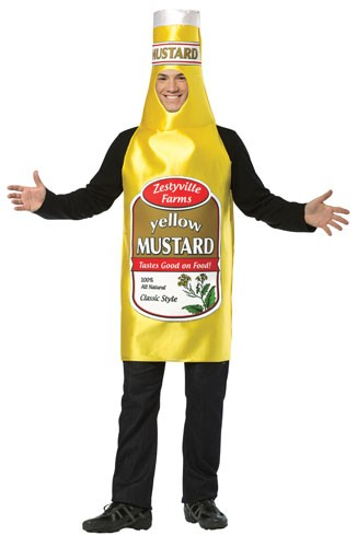 Zestyville Adult Mustard Bottle Costume