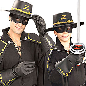 Zorro Costume Gloves
