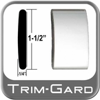 "1-1/2"" Wide Chrome Body Side Molding Sold by the Foot Trim Gard® #CMV01-01"