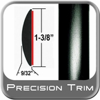 "1-3/8"" Wide Black Molding Trim Sold by the Foot Precision Trim® #17100-60-01"