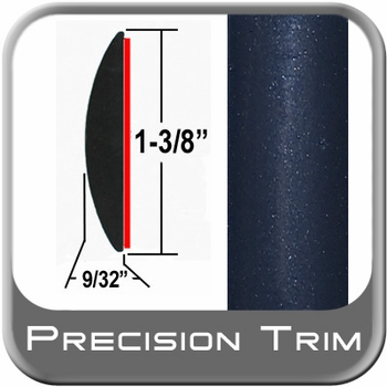 "1-3/8"" Wide Blue (Dark) Molding Trim (PT35) Sold by the Foot Precision Trim® #17100-35-01"