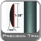 "1-3/8"" Wide Green (Dark) Molding Trim (PT78) Sold by the Foot Precision Trim® #17100-78-01"