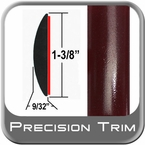 "1-3/8"" Wide Red (Dark) Molding Trim (PT72) Sold by the Foot Precision Trim® #17100-72-01"