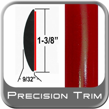 "1-3/8"" Wide Red Molding Trim (PT88) Sold by the Foot Precision Trim® #17100-88-01"