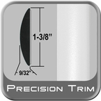 "1-3/8"" Wide White Molding Trim (PT10) Sold by the Foot Precision Trim® #17100-10-01"