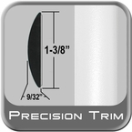 "1-3/8"" Wide Molding Trim White (CP13) Sold by the Foot Precision Trim® #60100-13"