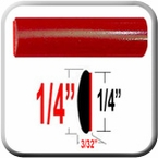 "1/4"" Wide Red Wheel Trim Sold by the Foot, Cowles® # 37-520-01"