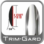 "1-5/16"" Wide Chrome Body Side Molding Two 7' Strips Trim Gard® #1401DC-14"