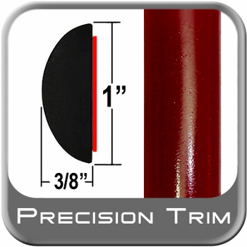 "1"" Wide Red (Dark) Camaro Molding Trim (PT31) Sold by the Foot Precision Trim® #3372-31-01"