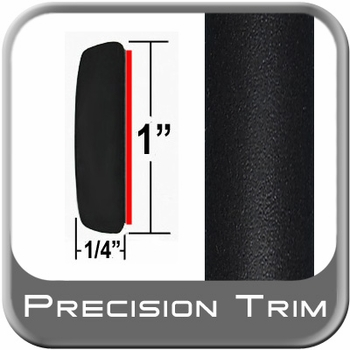 """1"""" Wide Molding Trim Black (Flat) (PT11) Sold by the Foot Precision Trim® #11100-11-01"""