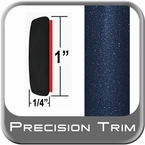 "1"" Wide Blue (Dark) Molding Trim (PT64) Sold by the Foot Precision Trim® #11100-64-01"