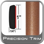 "1"" Wide Copper Molding Trim (PT80) Sold by the Foot Precision Trim® #11100-80-01"