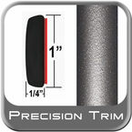 "1"" Wide Gray (Dark) Molding Trim (PT24) Sold by the Foot Precision Trim® #11100-24-01"