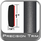 "1"" Wide Gray (Dark) Molding Trim (PT49) Sold by the Foot Precision Trim® #11100-49-01"
