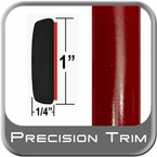 "1"" Wide Red (Dark) Molding Trim (PT55) Sold by the Foot Precision Trim® #11100-55-01"