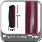 "1"" Wide Red (Dark) Molding Trim (PT65) Sold by the Foot Precision Trim® #11100-65-01"