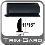 "11/16"" Wide Black Wheel Molding Trim Sold by the Foot, Trim Gard® # WW2-NT-01"