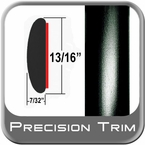 "13/16"" Wide Black Molding Trim Sold by the Foot Precision Trim® #40100-60-01"