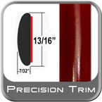 "7/8"" Wide Red (Dark) Molding Trim ( PT31 ), Sold by the Foot, Precision Trim® # 40100-31-01"