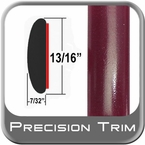 "7/8"" Wide Red (Dark) Molding Trim ( PT65 ), Sold by the Foot, Precision Trim® # 40100-65-01"
