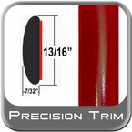 """7/8"""" Wide Red Molding Trim ( PT88 ), Sold by the Foot, Precision Trim® # 40100-88-01"""