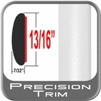 """7/8"""" Wide White Molding Trim ( PT10 ), Sold by the Foot, Precision Trim® # 40100-10-01"""