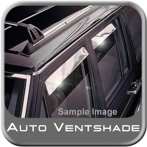 GMC Sierra Truck Rain Guards / Wind Deflectors 1973-1991 Ventshade Stainless Steel 4-piece Set Auto Ventshade AVS #14049