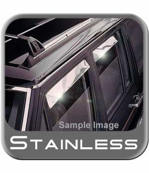 Buick Park Avenue Rain Guards / Wind Deflectors 1985-1990 Ventshade Stainless Steel 4-piece Set Auto Ventshade AVS #14122