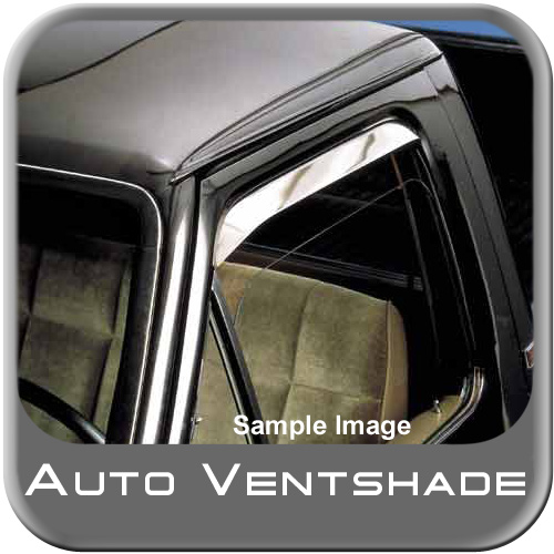Nissan Truck Rain Guards / Wind Deflectors 1986-1997 Ventshade Stainless Steel Front Pair Auto Ventshade AVS #12011